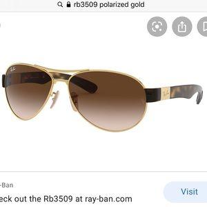Rayban Gold & Tortoise Shell EUC RB 3509